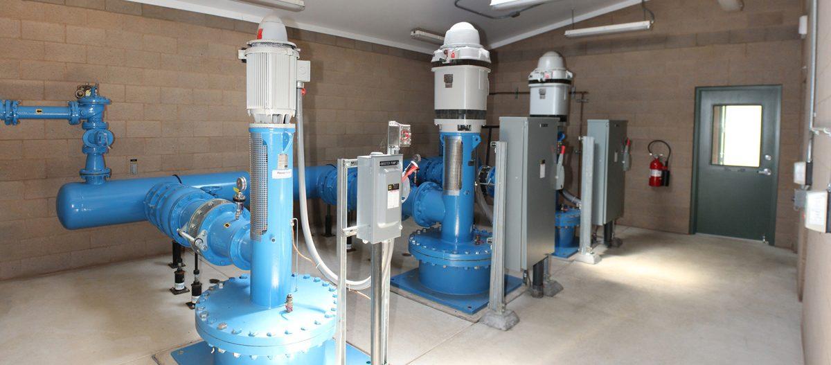 Water Treatment Plant Pump Room