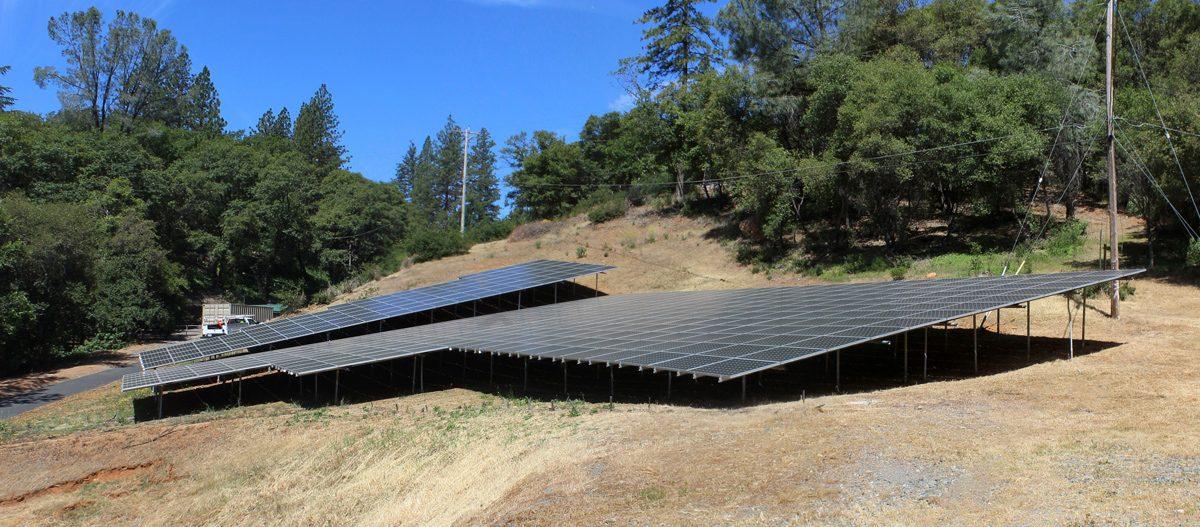 Water Treatment Plant Solar Panels
